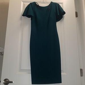 Calvin Klein Midi Dress with Shoulder Ruffle 2